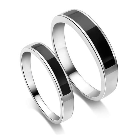 black and silver wedding rings wedding and bridal