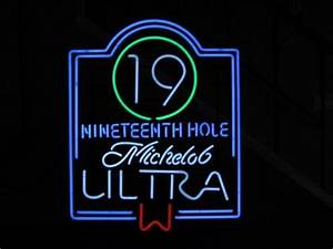 Michelob Ultra 19th Hole PGA Pro Golf Tour Neon Light Beer