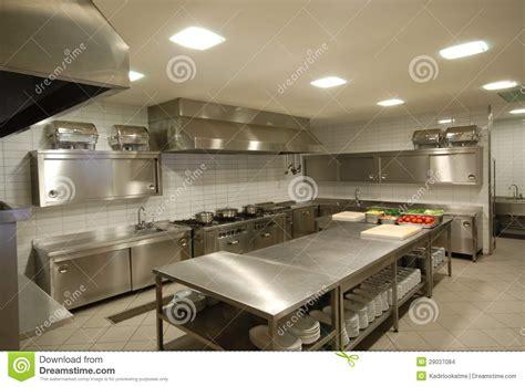 cuisine resto cuisine moderne dans le restaurant images stock image