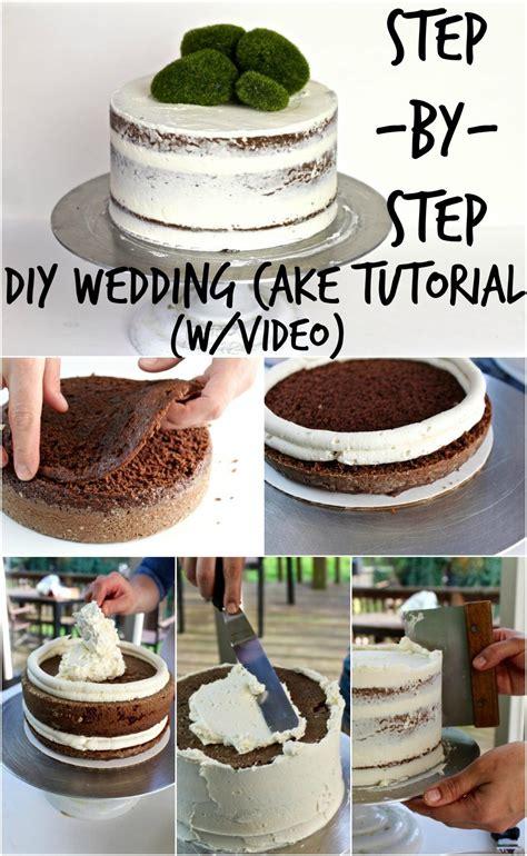 Diy Wedding Cake Tutorial Parties And Events Diy