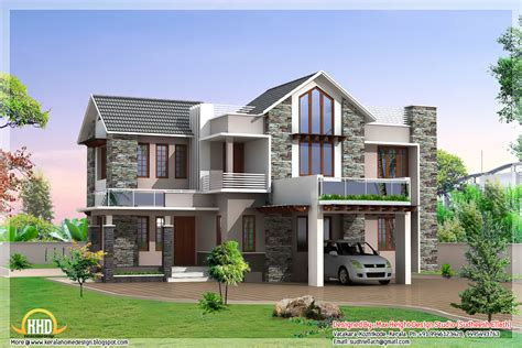 home house plans 3 beautiful modern home elevations kerala home design