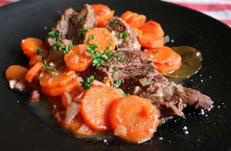 comment cuisiner du paleron bœuf aux carottes recettes cookeo