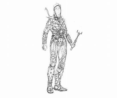 Skyrim Armor Female Elder Scrolls Coloring Pages
