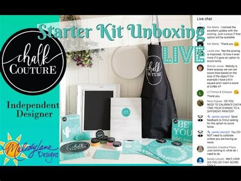 unboxing chalk couture starter kit youtube