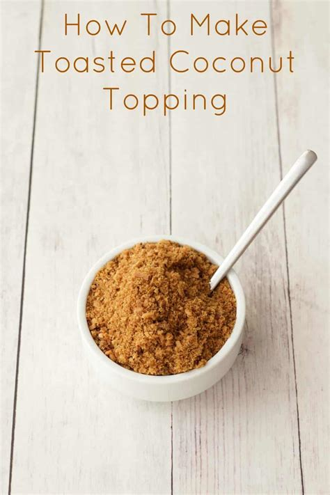 toasted coconut topping loving  vegan
