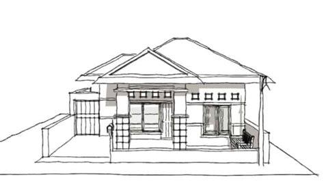 sketsa rumah sederhana