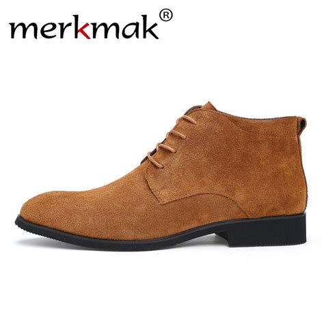 Aliexpress Buy Merkmak Winter Men Boots Warm Ankle