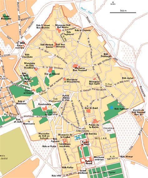 Carte Villes Maroc Pdf by La Ville De Marrakech Au Maroc Le Quartier De La M 233 Dina