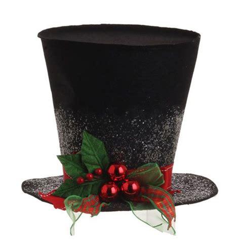 raz 9 inch holly top hat christmas decoration