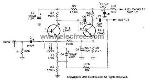 Dynamic Microphone Preamplifier Circuit Using