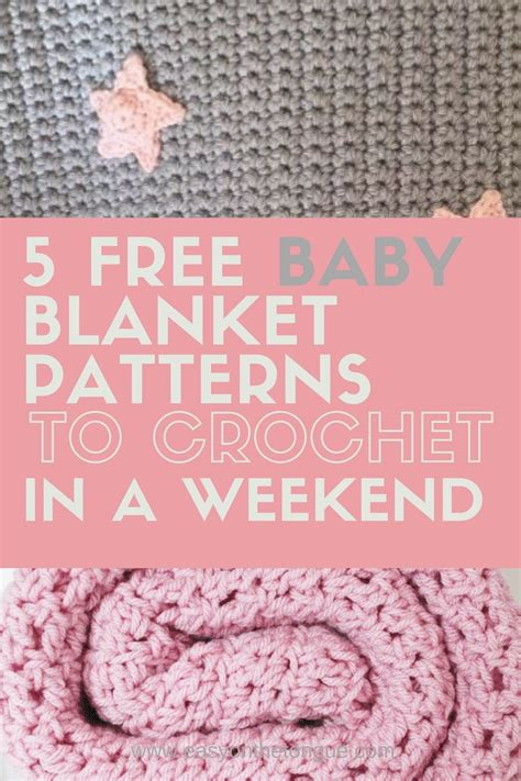 baby blanket patterns  crochet   weekend