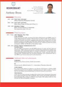simple curriculum vitae format doc 13 resume format exles 2016 budget template letter