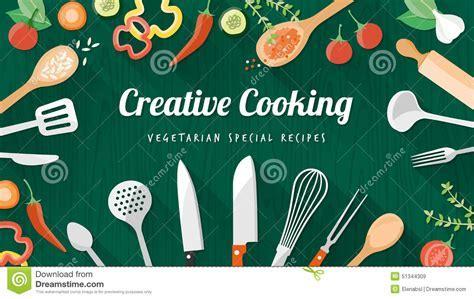 Food And Cooking Banner Cartoon Vector   CartoonDealer.com