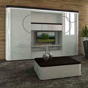 Meuble Tv Living : meuble tv living biblioth que laque bicolore portes ~ Teatrodelosmanantiales.com Idées de Décoration