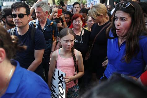 swedish teen climate activist leads protest
