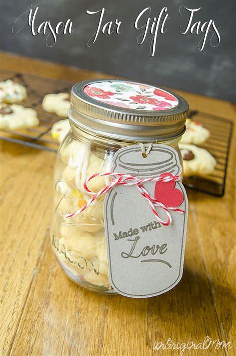 mason jar gift tags   silhouette unoriginal mom