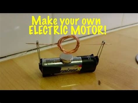extremely simple electric motor you can make for a science