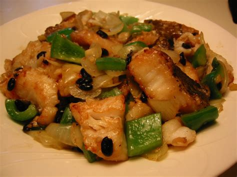 english patis stir fried fish  black beans