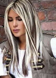 Meches Blondes Sur Chatain : meche blonde platine meche blonde platine sur cheveux chatain en relation meches blondes ~ Melissatoandfro.com Idées de Décoration