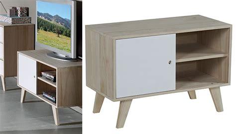cuisine deco scandinave meuble tv bois blanc petit prix