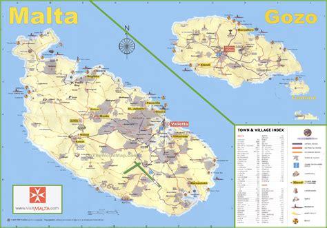 travel map  malta