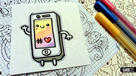 draw  cute iphone easy  kawaii drawings