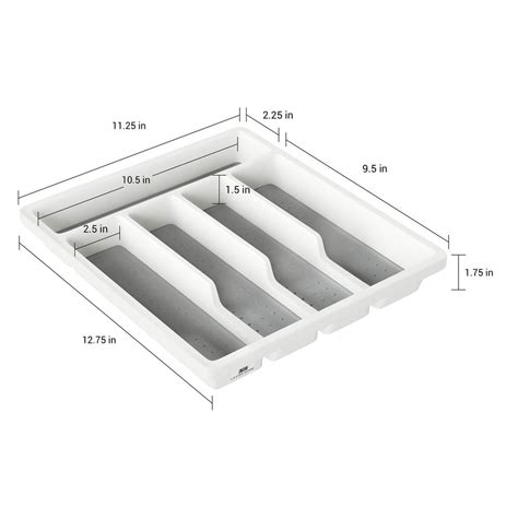 flatware lid plastic tray holder utensil cutlery organizer kitchen