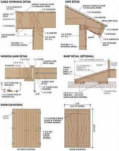 free shed plans 8x12 Gable Overhang, Eave, Jamb, Ramp and ...