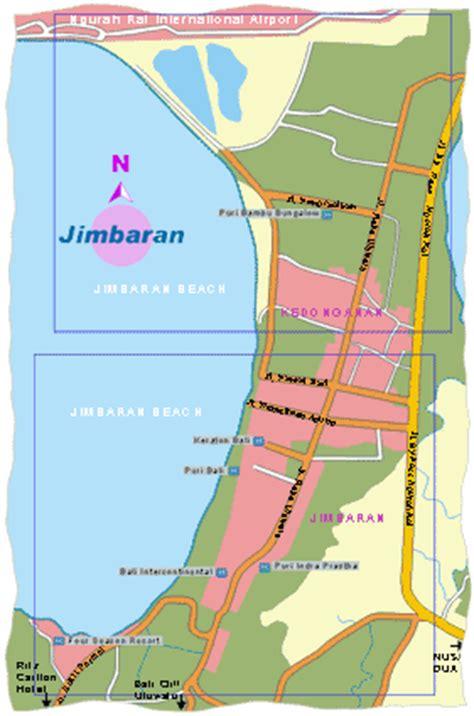 jimbaran map bali map