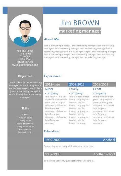 Cv Template Word by Cv Word