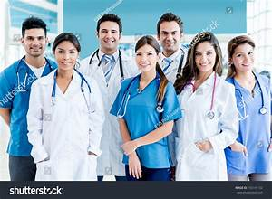 Medical Team Hospital Looking Very Happy Stock Photo ...