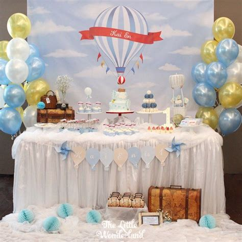 Dessert Table From A Vintage Hot Air Balloon Birthday