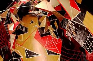 2d Meets 3d In This Geometric Installation