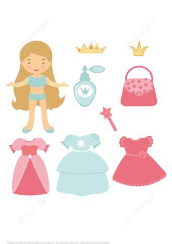 princess paper doll   dresses  printable