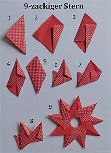Origami Stern Falten Einfach : sonne oder 9 zackiger stern papierzen ~ Watch28wear.com Haus und Dekorationen