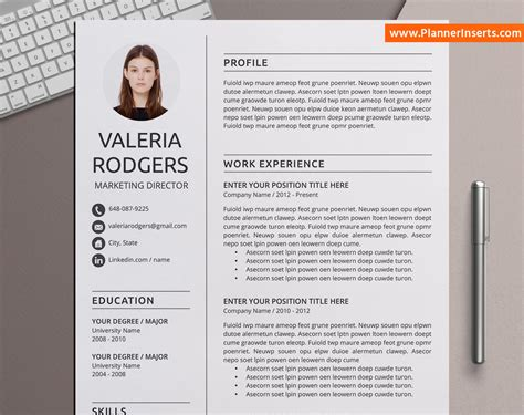 · planned and led required training session for teaching assistants and new composition teachers. Simple Resume Bundle, Curriculum Vitae, CV Templates, MS ...