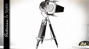 Lampe De Table Cinema : lampe de table projecteur de cin ma chrom 80 cm int rieurs styles ~ Teatrodelosmanantiales.com Idées de Décoration