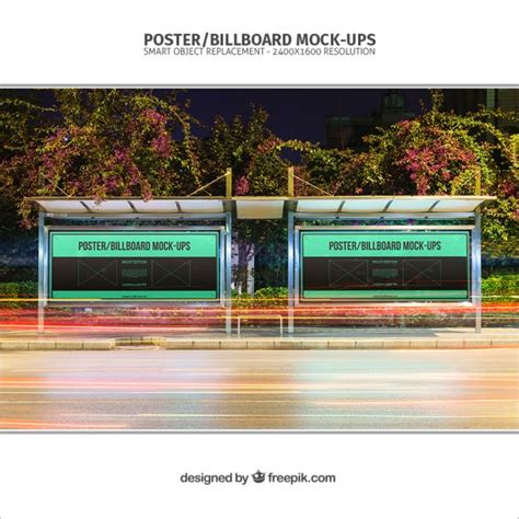 bus stop poster psd template bus stop posters mockup psd file free download