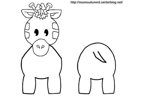 coloriage girafe pour rouleau de papier wc