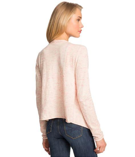 draped sweater aeropostale womens heathered drape cardigan sweater ebay