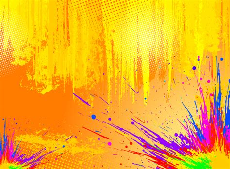 Abstract Color Wallpaper Hd Color Splash Vector Background Vector Art Graphics Freevector Com