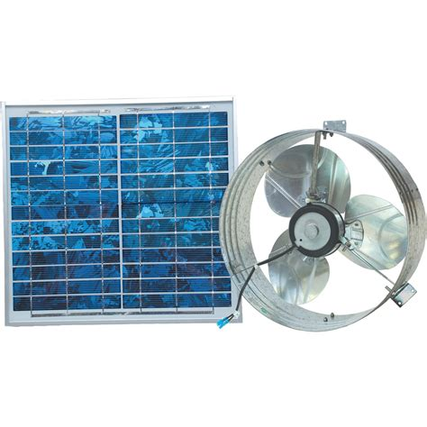 Ventamatic Solar Powered Ventilating Fan With Panel Gable