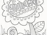 Coloring Grandma Grandparents Printable Getcolorings Getdrawings sketch template
