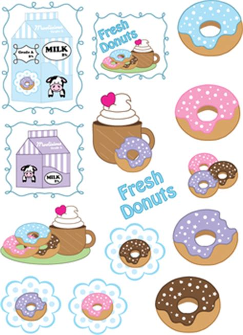 stickers donut stickers  printable ideas