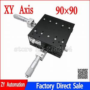 Xy Axis 90 90 Cross Guide Micrometer Manual Sliding Table