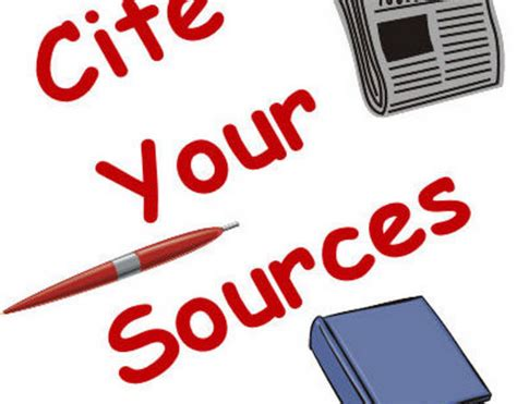 Citing Sources Clip Art