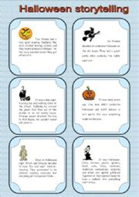 Storytelling Cards For Halloween *editable*  Esl Worksheet By Tanyazzz