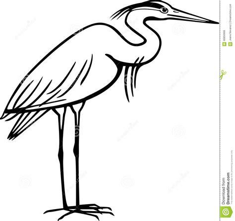 blue heron outline