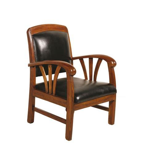 canape cuir et bois fauteuil bois et cuir mzaol com