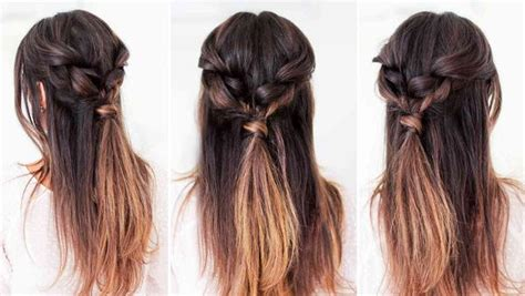 Easy Everyday Hairstyle Easy Do It Yourself Hairstyles For Long Hair 8th Grade Semi Formal How To Curly Simple School Shoulder Length Style Mid Layered Shorter Styles Summer Medium Short Natural Updo